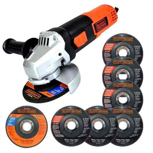 Esmeril Angular 4 1/2 820w 7 Discos G720p-b3 Black & Decker