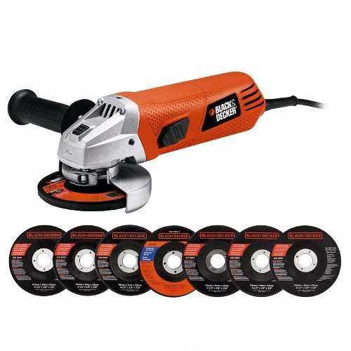 Esmeril Black+decker 4½ Pulgadas + 7 Discos
