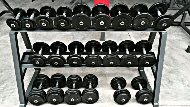 Mancuernas De Lujo con rack 12 Pares 244 Kg