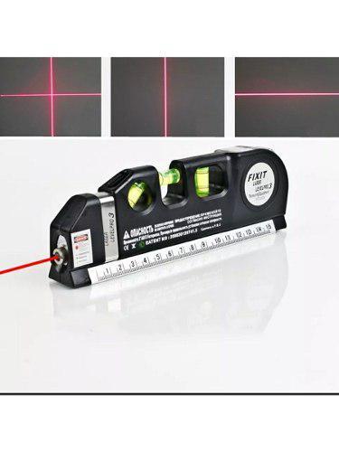 Nivel Laser, Láser Con Tres Burbujas, Regla Y Flexometro