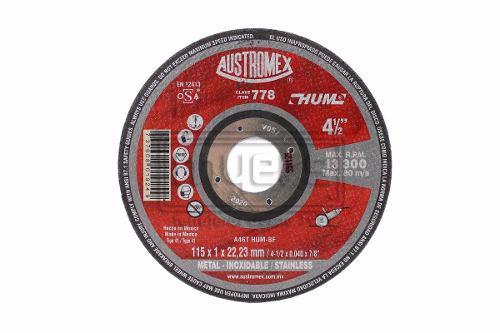 oferta! Disco De Corte De Acero Inox 4 1/2 Austromex 778