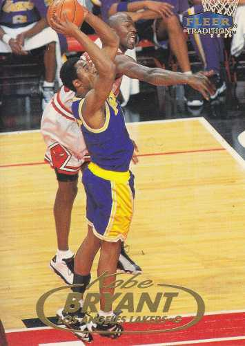 1998-99 Fleer Tradition Kobe Bryant Lakers W Michael Jordan
