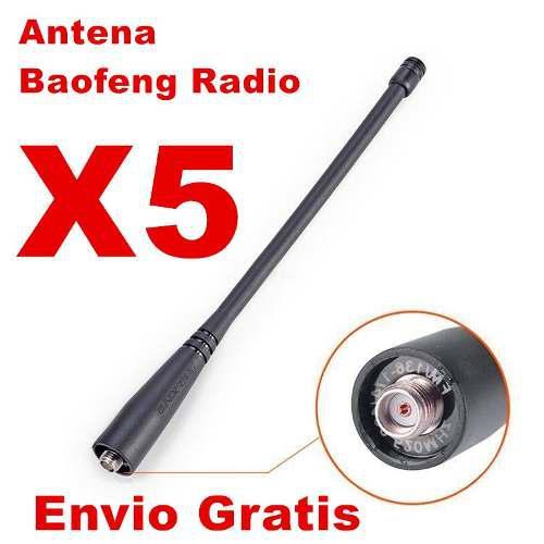 5 Antena Original Baofeng Radio Uv5r Uv82 Envio Gratis
