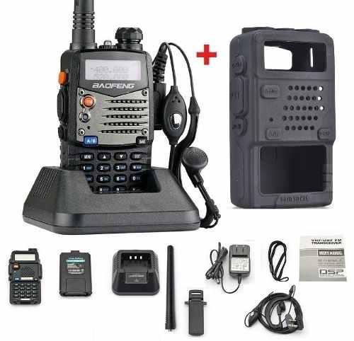 6 Radio Baofeng Uv5r + 6 Fundas De Silicon Doble Banda Y Fm