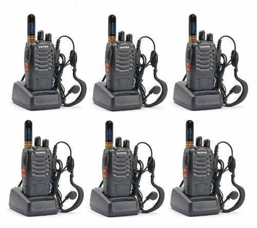 6 Seis Radios Baofeng Bf-888s + 6 Mini Antena