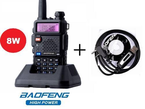 8w Radio Baofeng Uv-5r + Cable Programacion *maxima Potencia