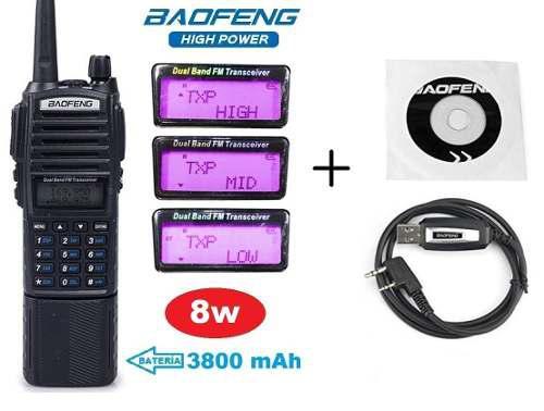 8w Radio Baofeng Uv-82 Hp Pila 3800 Mah + Cable
