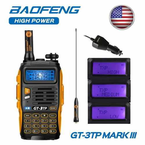8w Radio Portatil Baofeng Gt-3tp Mark Iii Vhf/uhf Tri-power