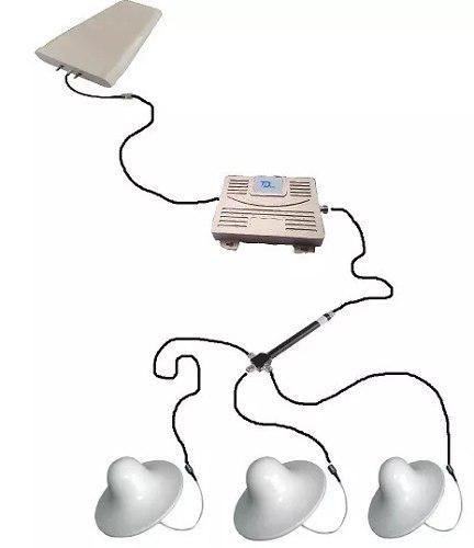 Antena Amplificador Señal 3g Y 4g Telcel At&t 3 Antenas