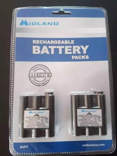Avp7 2 Baterias Recargables Nimh Batt5r Radios Midland Gxt
