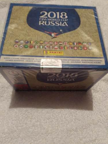 Caja Con 100 Sibres De Estampas Mundial De Rusia 2018