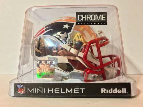 Casco Nfl Mini Helmets Riddell Chrome New England Patriots