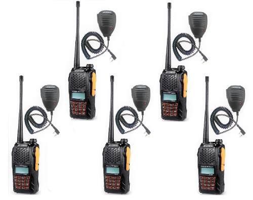 Cinco Radios Portatil Baofeng Uv-6r Vhf/uhf + 5 Micro Solapa