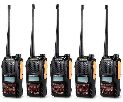 Cinco Radios Portatil Baofeng Uv-6r Vhf/uhf Doble Banda 5w.