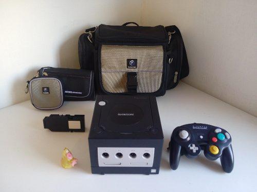 Consola Gamecube + Mochila De Viaje + Adaptador De Modem