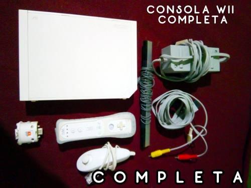 Consola Wii Blanca Incluye 1 Control Cables Envio Gratis