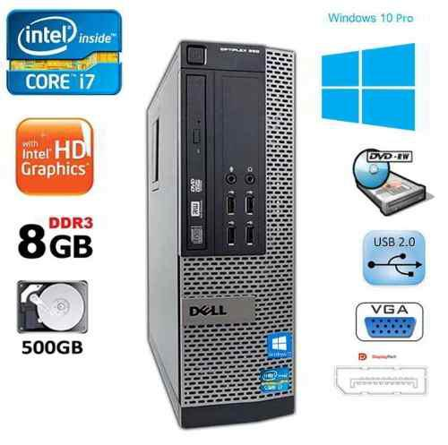 Equipo Dell Optiplex Core I7 3.4 Ghz 8 Gb 500 Gb Lcd 19