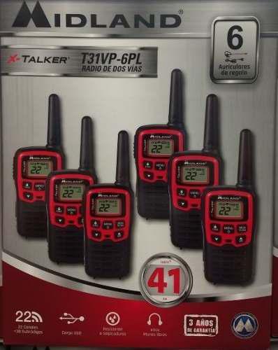 Kit 6 Radios Midland X Talker T31vp-6pl 41km* Vs Agua Envió