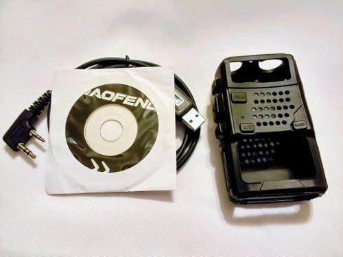 Kit Cable De Programacion + Funda Para Radio Baofeng Uv-5r