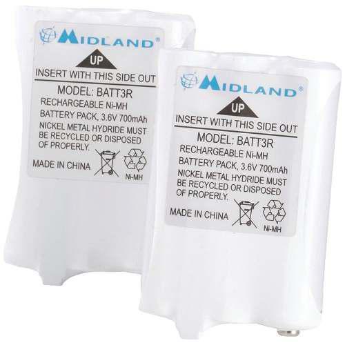 Midland Avp14 2 Pilas Recargables Radios Lxt600 Btt3r