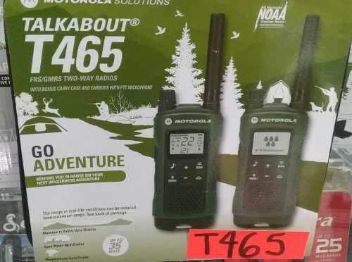 Motorola T465 Talk About Kit Radios 35 Millas Nuevo!