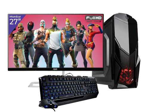 Pc Gamer Xtreme Amd A10 9700 8gb 1tb Video R7 Monitor Led 27