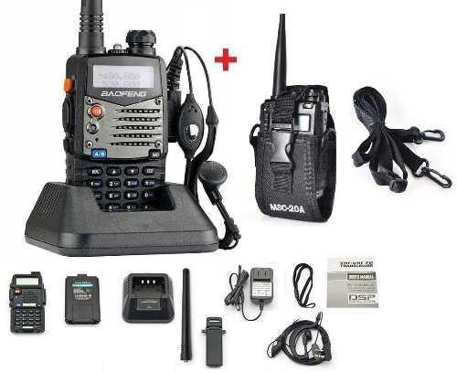 Radio Baofeng Uv5r + Funda Multi Pocision Doble Banda Fm