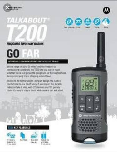Radio Motorola T200mc