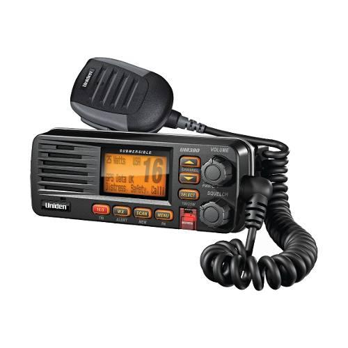 Radio Movil Marino Vhf 25w, Color Negro Um380bk Uniden