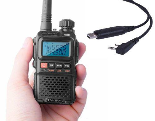 Radio Portatil Baofeng Uv-3r + Plus Vhf/uhf + Cable Program.