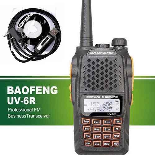 Radio Portatil Baofeng Uv-6r Vhf/uhf Doble Banda 5w. + Cable