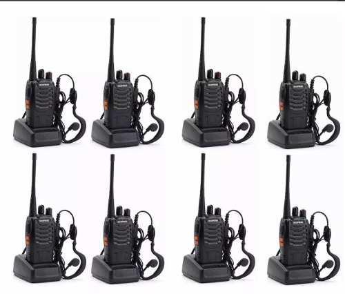Set 8 Radios Baofeng Bf-888s Walkie Talkie 2 Vías Uhf Lote