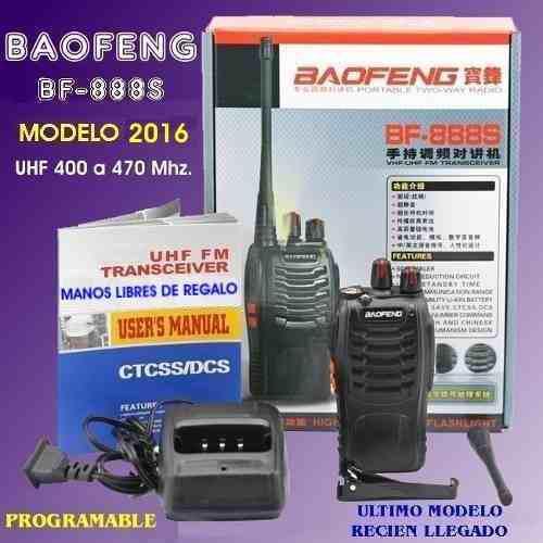Set De 2 Radios Baofeng Bf-888s 2 Vías Uhf Envío Gratis!!
