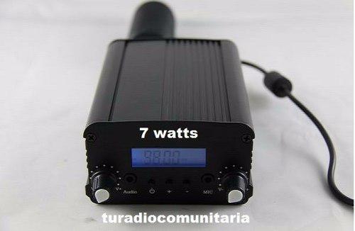 Transmisor Radio Fm 7 Watts + Antena+ Cable+ Envio Gratis