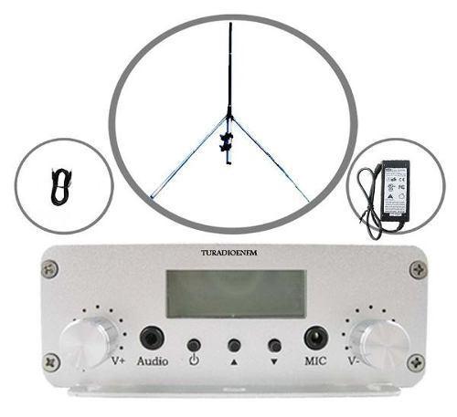 Transmisor Radio Fm De 20 Watts Antena Y Cable Envio Gratis