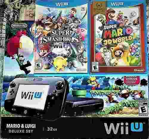 Consola Nintendo Wii U 32gb + Super Smash Bros. - Mario 3d