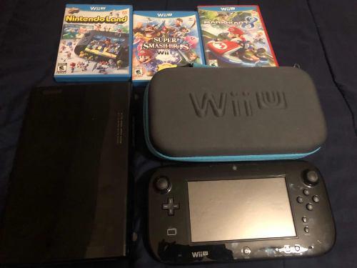 Consolanintendo Wii U Con 3 Juegos Y Protector De Mando