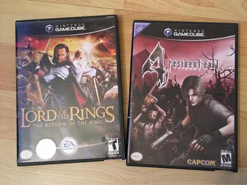 Gamecube Nintendo Juegos Resident Evil 4 Y Lord Of The Rings