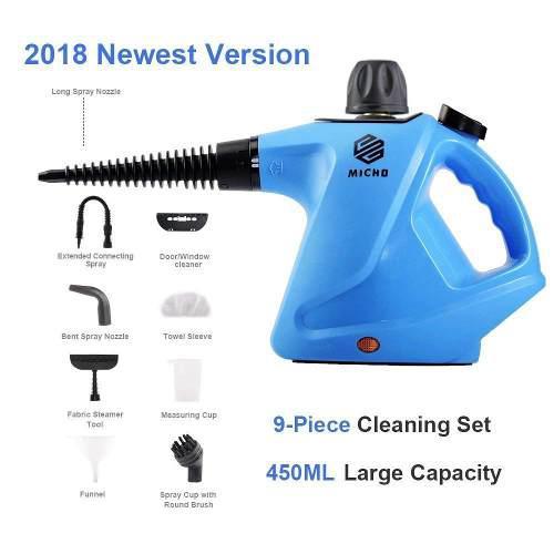 Maquina Limpiadora A Vapor Multiusos Hogar Azul Micho Cosina
