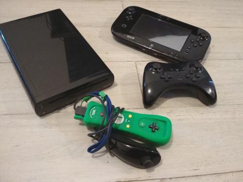 Nintendo Wii U Con Pro-control, Wii Remote Y 6 Juegos