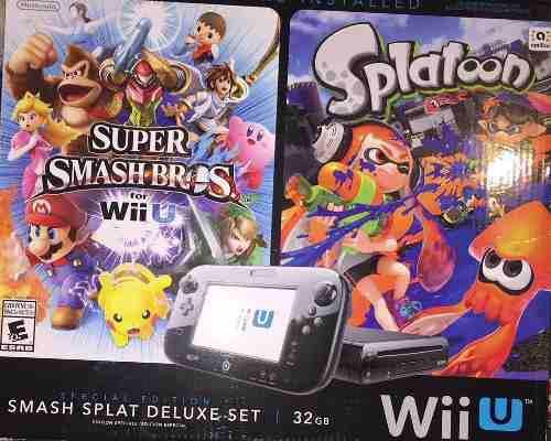 Nintendo Wii U Smash Splat Deluxe 32 Gb Con 5 Juegos Wii U