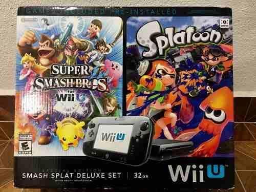 Nintendo Wii U Smash Splat Deluxe Set. 5 Juegos