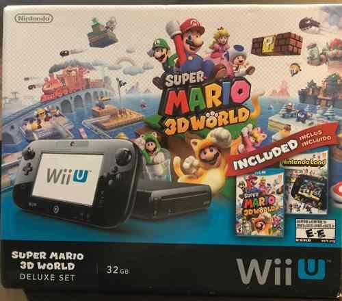 Nintendo Wii U Super Mario 3d World 32 Gb, 11 Juegos (usado)