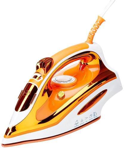 Plancha De Vapor Suela Ceramica Color Naranja Marca Man