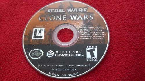 Star Wars Clone Wars. Gamecube. Solo Disco.