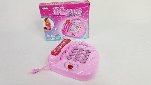 Telefono Musical Luz Y Sonido Juguete Didactico Bolsa Rosa
