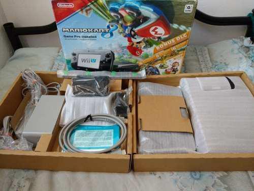 Wii U Mario Kart 8 Deluxe Set 32gb Completo Con 15 Juegos