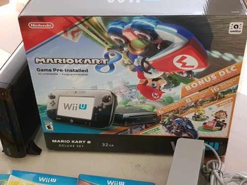 Wii U Mario Kart 8 Set De Lujo De 32 Gb Incluye 3 Juegos.