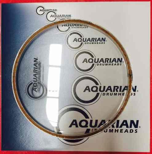Aquarian Classic Clear 8, Parche P/ Bateria Envio Gratis!