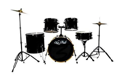 Bateria New Beat Acustica Nb300set Bkhw